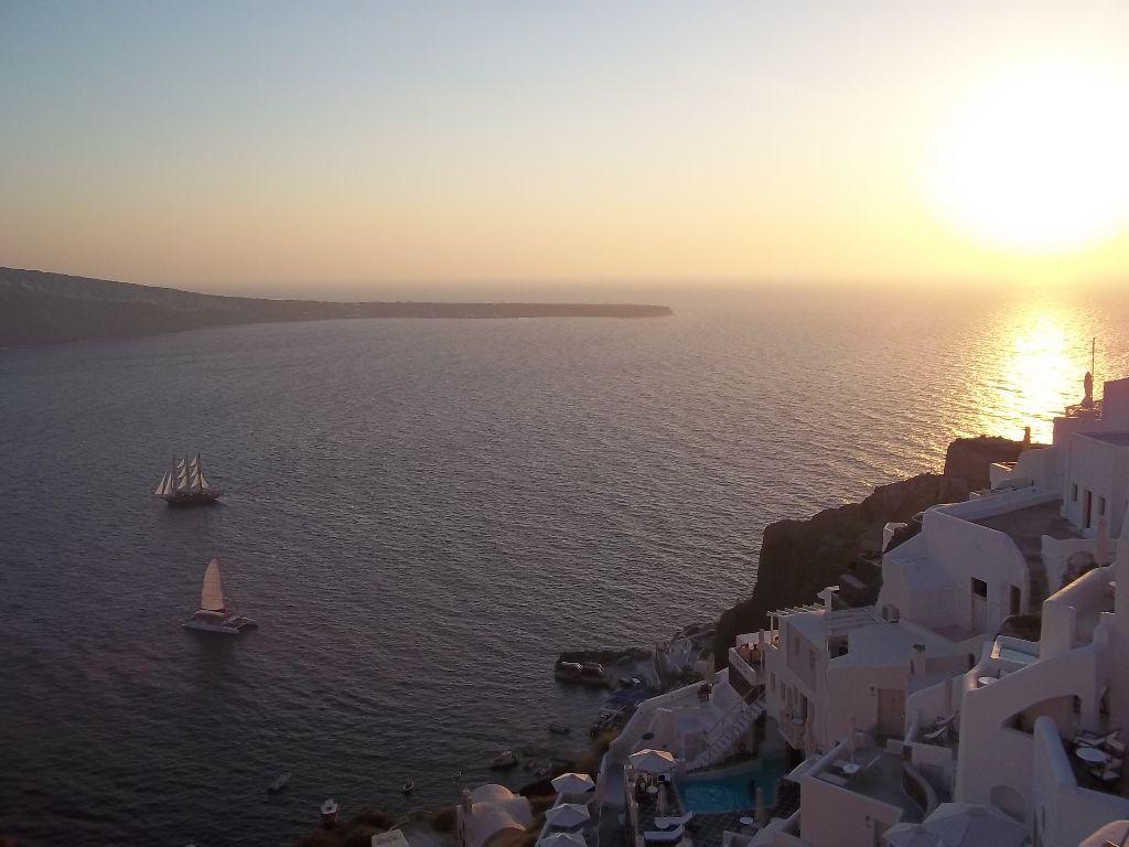 Kouzelné západy slunce na Santorini